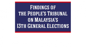 Report of Findings of The People's Tribunal on Malaysia's 13th General Elections