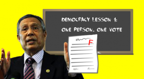 BERSIH 2.0: EC chair shows himself, again, to be unfit for post; OPOVOV fundamental to elections
