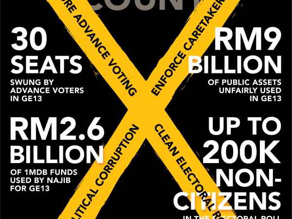MAKE YOUR VOTE COUNT! BERSIH 2.0's demands for GE14 electoral reforms