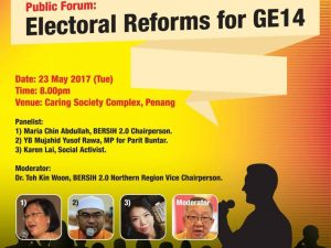 BERSIH 2.0 public forum (George Town): Make Your Vote Count for GE14!