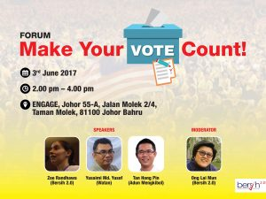 BERSIH 2.0 to hold forum on GE14 electoral reforms in Johor