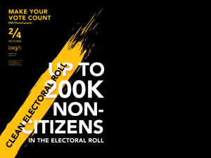 MAKE YOUR VOTE COUNT!—Clean electoral roll
